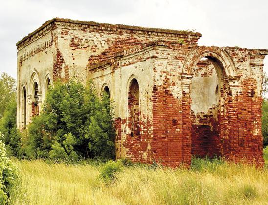 Руины храма.