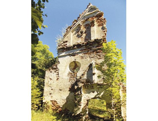 Руины каплички.