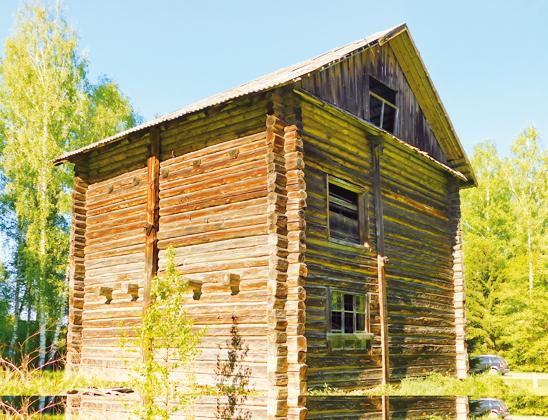 Деревянная мельница.