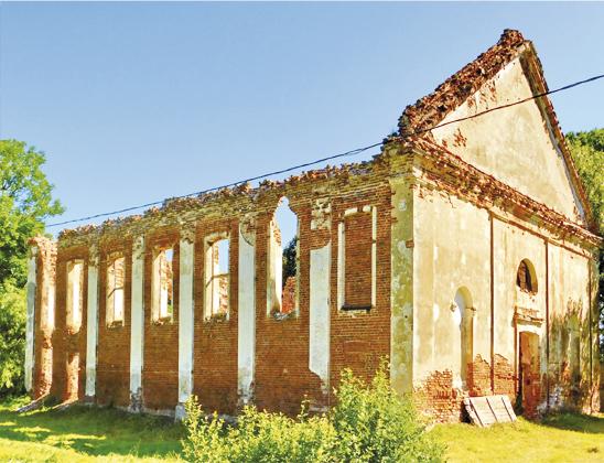 Руины николаевского костела.