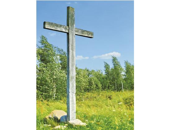 Крест на месте Оршанской битвы.