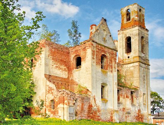 Руины костела Святой Вероники.